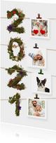 Kerstkaart 2021 natuur collage