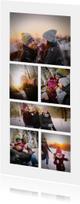 Kerstkaart collage 6 foto's langwerpig