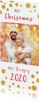 Kerstkaart confetti foto  kleur tekst aanpasbaar