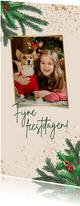 Kerstkaart gezellige kerstdecoratie en foto