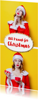 Kerstkaarten - Kerstkaart grappig eigen fotostrip