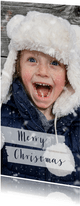 Kerstkaart grote foto langwerpig - BK