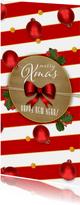 Kerstkaart klassiek kraft en kerstballen