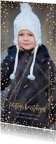 Kerstkaart lang confetti rand