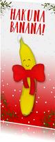 Kerstkaart langwerpig Hakuna Banana!