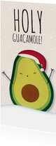 Kerstkaart langwerpig Holy Guacamole! It's Christmas!