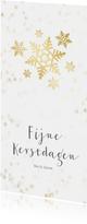 Kerstkaart langwerpig sneeuwvlok - Een gouden kerst