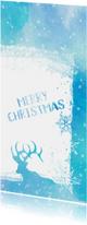 Kerstkaart Merry Christmas aquarel