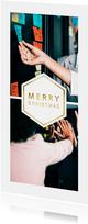 Kerstkaart 'Merry Christmas' met 2 foto's langwerpig