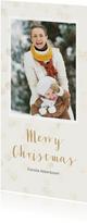 Kerstkaart met enkele foto langwerpig - BK