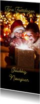 Kerstkaart prachtig zwart met eigen foto's