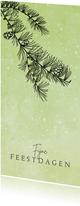 Kerstkaart stijlvol naaldboom en sneeuw