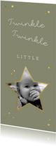 Kerstkaart twinkle twinkle little star