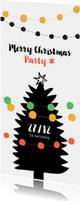 Kerstkaart uitnodiging voor feestje