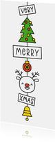 Kerstkaart very merry xmas kerst hanger