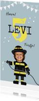 Kinderfeestje brandweer brandweerman feestje slingers