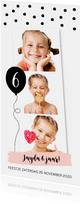 Kinderfeestje confetti ballon fotocollage langwerpig