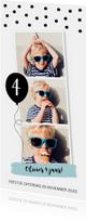 Kinderfeestje fotocollage langwerpig confetti jongen
