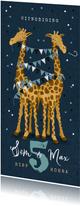 Kinderfeestje giraf feest tweeling confetti slingers
