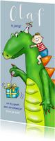 Kinderfeestje - jongetje met dinosaurus