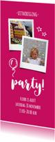 Kinderfeestje roze langwerpig