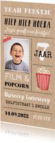 Kinderfeestje uitnodiging kraftlook thema film met foto