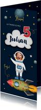 Kinderfeestje uitnodiging ruimte space raket foto