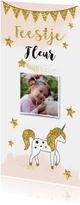 Kinderfeestje unicorn gouden glitter