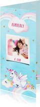 Kinderfeestje unicorn wolkje