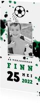 Kinderfeestje voetbal met foto en spetters