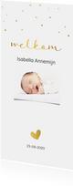 Klassiek geboortekaartje goud