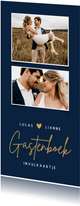 Langwerpig gastenboek invulkaartje voor een bruiloft