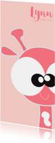 Geboortekaartjes - Leuk  geboortekaartje met vrolijke giraffe van Mo Cards