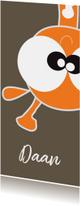 Geboortekaartjes - Leuk geboortekaart met giraffe staand jongen