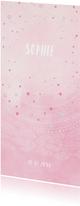 Geboortekaartjes - Lieve waterverf geboorte kaart voor meisjes