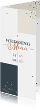 Menükarte Hochzeit 'Wedding Menu' grafisch