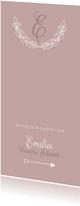 Menükarte Taufe klassisch rosé