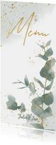 Menükarte zur Hochzeit Eukalyptus