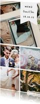 Menükarte zur Hochzeit Fotocollage