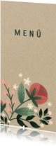 Menükarte zur Hochzeit im botanischen Look mit Blumen
