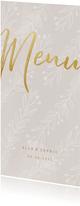 Menükarte zur Hochzeitsfeier feine Zweige