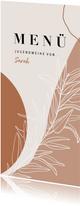 Menükarte zur Jugendweihe Pflanze abstrakt