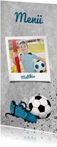 Menükarte zur Kommunion Foto & Fußball