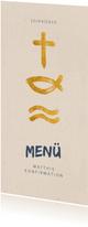 Menükarte zur Konfirmation Symbole
