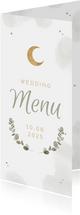 Menukaart Arabische bruiloft windlicht eucalyptus
