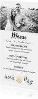 Menukaart - diner met eigen foto