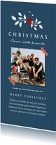 Menukaart kerstdiner vrienden familie met foto