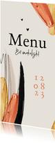 Menukaart stijlvol verf goud typografisch trend