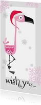 Moderne nieuwjaarskaart flamingo