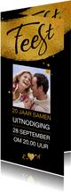 Mooie uitnodiging voor 20-jarig (aanpasbaar) huwelijksfeest
